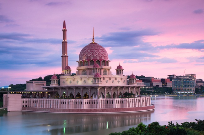 "I hired a taxi driver to drive me around Putrajays, Malaysia at dusk.  He somehow talked a security gaurd into letting me up into their security ""crows nest"" at the Kelab Tasik that overlooks the Putra Mosque.  The guard said they've never let a photographer up there before.  Yeah, my taxi driver got a big tip!"
